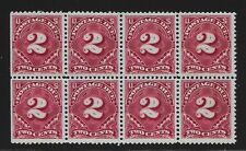 Mint J32 Block/Eight 6 of 8 MINT NEVER HINGED Hard to find and very high catalog