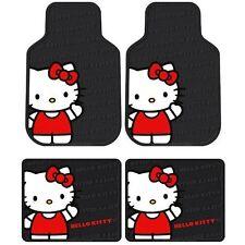 olor Hello Kitty Sanrio Waving Front & Rear Car Truck SUV Seat Rubber Floor Mats