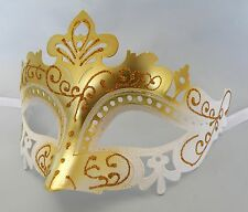 Gold and White Venetian Masquerade Party Mask *NEW* Express Post Option