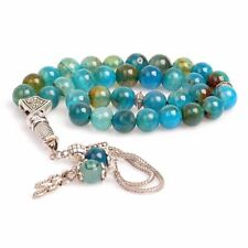 Agate Stone Islamic Prayer 33 beads Tasbih - Misbaha - Rosary - Tasbeeh (8mm)