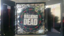 "The Walking Dead Collector Set:18"" Dartboard in Wooden Cabinet inc Darts Zombie"