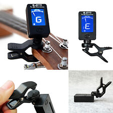 LCD Clip-on Electronic Digital Guitar Tuner for Chromatic Bass Violin Ukulele US
