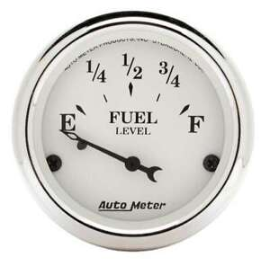 Auto Meter Old Tyme White 2 1/16in Fuel Gauge Ford