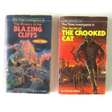 The Three Investigators Scholastic Secret of Crooked Cat Mystery Blazing Cliffs