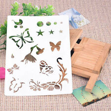 Butterfly Soft Plastic Reusable Template Stencil Spray Paint Mould Home Garden