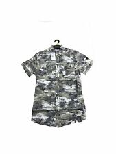 Peacocks Mens Shirts Short Sleeve Camo Hawaiian RRP 12.00
