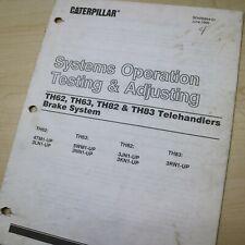 Caterpillar Th62 Th63 Th82 Th83 Telehandler Brake System Service Manual Cat Shop
