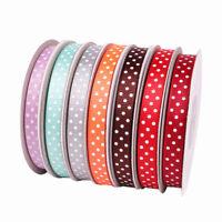 "25yards Reel Polka Dot Grosgrain 3/8"" width Ribbon Sewing Crafts Multicolor"