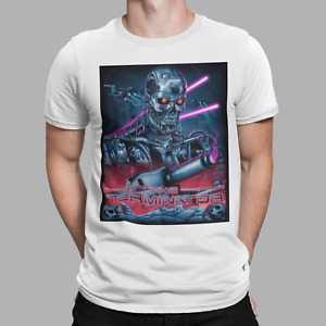 Terminator T-Shirt Retro Movie 80s Cyborg Cyberdyne Skynet Film Robot Tee Neon