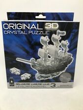 Bepuzzled Original 3D Crystal Puzzle Deluxe - Pirate Ship, Black -