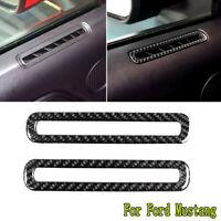 2x Kohlefaser Autotür Luftauslass dekorative Verkleidung für Ford Mustang 15-19