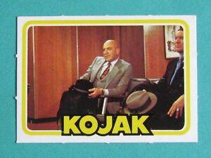 MONTY GUM 1975 KOJAK CARD. UN-NUMBERED, PICTURE PUZZLE BACKS. TV SERIES. SUPERB