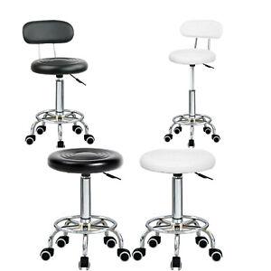 Stool Swivel Chair Black Adjustable Height Chair Office Round Desk PC Stool UK