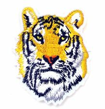 Tiger Face Iron On Patch-  Regal Animal Safari Zoo Embroidered Applique Badge