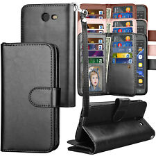 For Samsung Galaxy J7 Sky Pro / J7 Prime 2017 PU Leather Card Holder Wallet Case