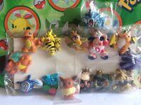 Pokemon Paper Clip figure set lot Charizard Mime Gengar Poliwag Raichu   (plush)