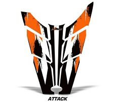Sled Hood Graphics Kit Decal Sticker Wrap For Polaris Rush RMK 11-16 ATTACK ORNG