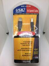 New Belkin 10FT A-B USB 2.0 Cable F3U133-10