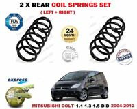 FOR MITSUBISHI COLT 1.1.3 1.5 DiD 2004-2012 2X REAR LEFT RIGHT COIL SPRING SET