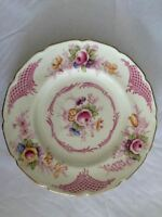 Royal Doulton Old Chelsea Salad Plate Floral, Pink Scrolls & Lattice 8 1/8""