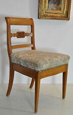 sehr schöner antiker Biedermeier-Stuhl Kirsche hell aufgepolstert