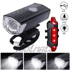 Waterproof USB Rechargeable Mountain Bike Lights Bicycle Torch Front & Rear Lamp