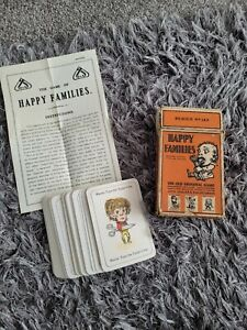 Vintage 1920's Happy Families Card Game. JAQUES & SONS LTD. Grotesque Characters