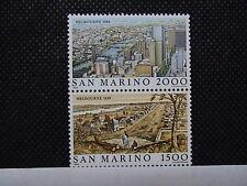 SAN MARINO 1984 serie 2 francobolli TEMATICA CITTA' deI MONDO MELBOURNE em.008B