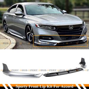 For 18-2020 Honda Accord Lunar Silver Metallic YF Front Bumper Lip Splitter Kit