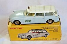 Dinky France #556 Citroen DS ID 19 Break  Ambulance, VNM in Good Original Box