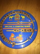1950s Vintage Spelling and Counting Board Color Graphics Wooden Letters Numbers