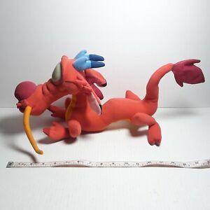 """Vintage Disney Mulan Mushu Plush Dragon Mattel Arcotoys 18"""" Stuffed Toy Dragon"""