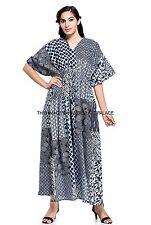 Patch Look Long Indian Kaftan Plus Size Women Dress Caftan Casual Beach Dress