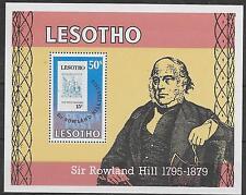 SIR ROWLAND HILL DEATH CENTENARY 1979;LESOTHO M/S 378 M.N.H.