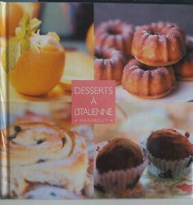 livre de cuisine neuf Les Desserts à l'italienne édition marabout