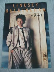LINDSEY BUCKINGHAM Album poster GO INSANE original record store promo 1984