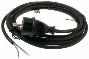 Anschlußleitung Gummikabel Bohremaschinen H05RN-F 2x1,0 mit Stecker schwarz