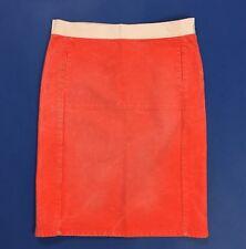 Diesel gonna jeans tubo arancione tubino donna usato w27 tg 47 vintage T637