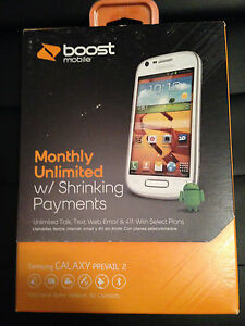 Boost Mobile Samsung Prevail 2 SPH-M840(White)Included Free $35.00Unlimited Plan