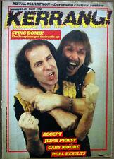Kerrang Magazine Scorpions Rudolf Schenker Klaus Meine Judas Priest No59 1983