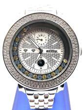 Freeze MOP Black Face White Genuine Diamond Watch FR022