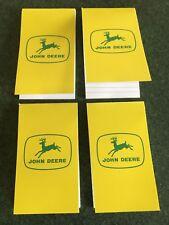 John Deere Pocket Notebook 4 Pack Old Style JD Logo Four Note Pads