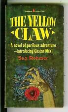 THE YELLOW CLAW by Sax Rohmer, US Pyramid #R317 crime horror pulp vintage pb