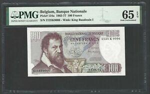 Belgium 100 Francs 1962-77 P134a Uncirculated Grade 65