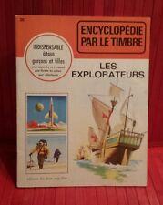 vintage 1968 Encyclopédie par le Timbre.  # 20 . les Explorateur . sticker book