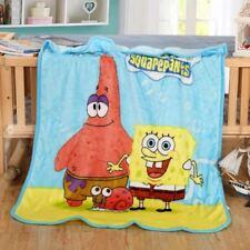 Kids Soft Mink Blanket Flannel Fabric 1 x 1.4 Meter Sponge Bob