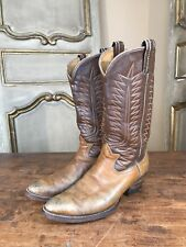 Vintage Custom Mens Cowboy Western Boots 1970's Size 8.5 Brown
