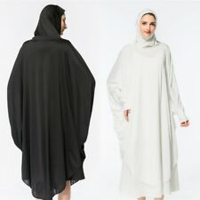 Muslim Women Prayer Long Tops Dress Overhead Pullover Jilbab Islamic Hijab Abaya