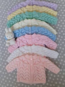 NEW BABY HAND KNITTED MATINEE-COAT/CARDIGAN