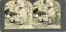 South Africa DE BEERS DIAMOND MINE HOISTING SHAFT Stereoview 17026 T489 19617 fx